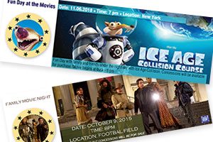 MovieEventticket sample